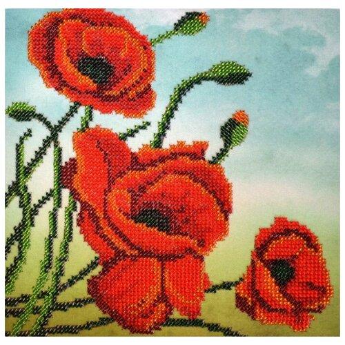 Hobby & Pro Набор для вышивания бисером Маки 19,5 х 19,5 см (БН-3222)