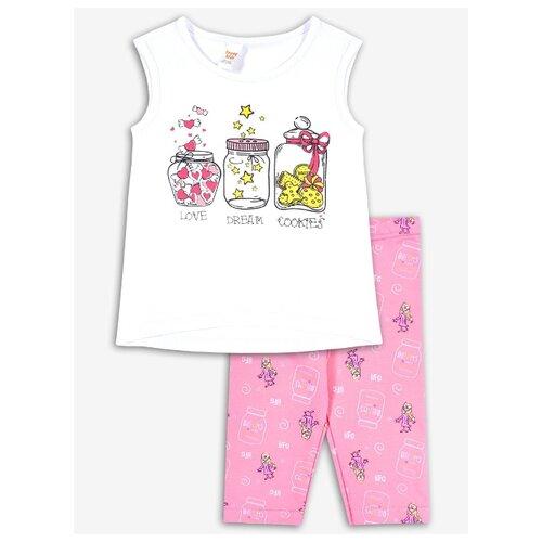 Комплект одежды Веселый Малыш размер 98, белый/розовый