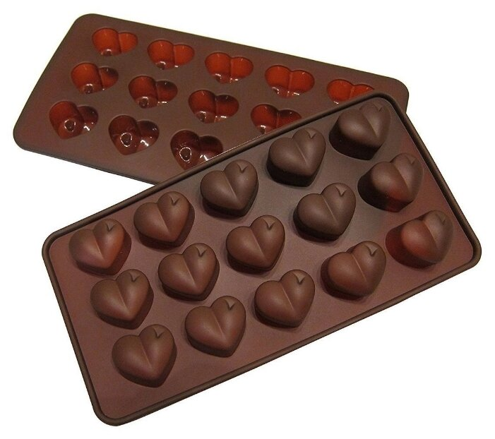 Форма для шоколада FidgetGo Сердечки, 15 ячеек