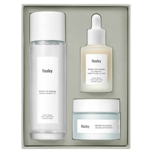 Huxley Набор Антиоксидантное трио для ежедневного ухода Routine Antioxidant Trio: Тонер Extract It 120 мл + Сыворотка Essense Like, Oil Like 30 мл + Крем Anti-Gravity 50 мл