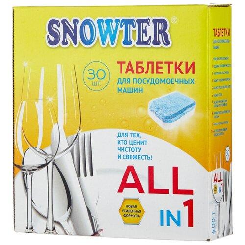 бытовая химия ecover таблетки для посудомоечной машины 3 в 1 0 5 кг Snowter 5 в 1 таблетки для посудомоечной машины, 30 шт., 0.6 кг