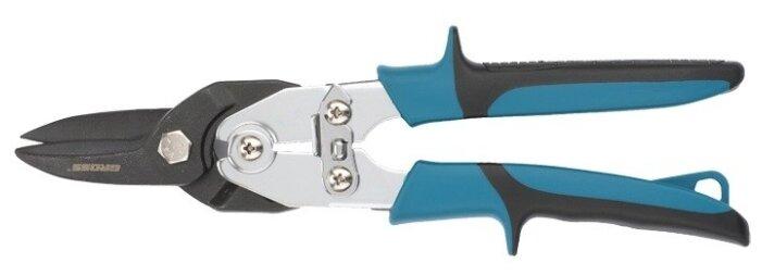 Ножницы по металлу GROSS 78347 усиленные 255мм прямой резсталь-СrMo двухкомпонентные рукоятки