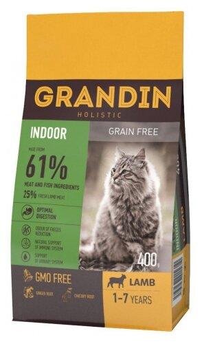 Корм для кошек Grandin Indoor беззерновой, с ягненком