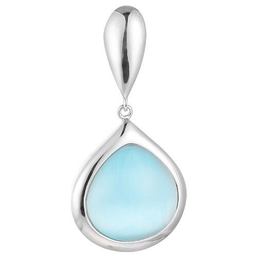 JV Подвеска со стеклом из серебра SP0401-US-001-WG jv кольцо с ювелирным стеклом из серебра b3198 us 011 wg размер 17 5