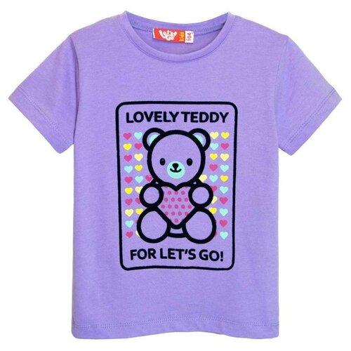 Купить Футболка Let's Go, размер 92, фиолетовый, Футболки и рубашки