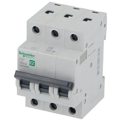 Автоматический выключатель Schneider Electric Easy 9 3P (C) 4,5kA 20 А автоматический выключатель schneider electric ez9f34306 easy 9 3p 6a c