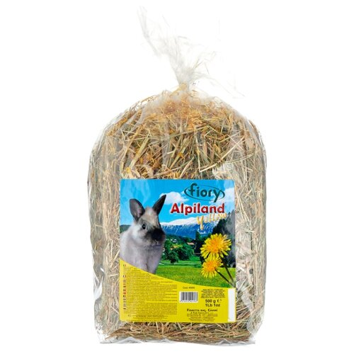 Сено Fiory Альпийское Alpiland Yellow с одуванчиком 0.5 кг