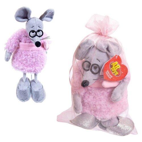 Купить Мягкая игрушка ABtoys Мышка в розовом пальто 16 см, Мягкие игрушки
