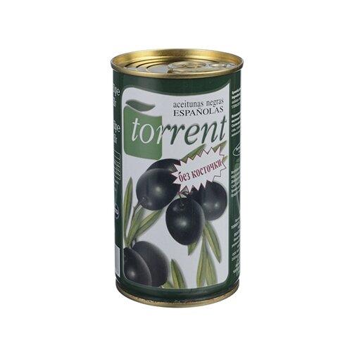 Torrent Маслины испанские без косточки, жестяная банка 350 гМаслины, оливки, каперсы консервированные<br>