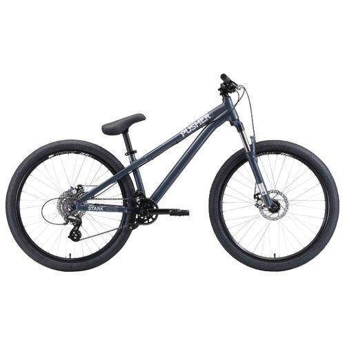 Горный (MTB) велосипед STARK Pusher 1 (2020) серый/серебристый S (требует финальной сборки)