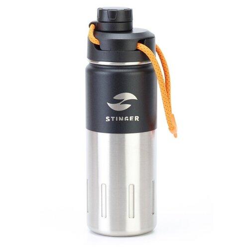 Термобутылка STINGER HD-500-46 (0.5 л) черный карбон защита дверных карманов войлок карбон kst dvpm 01 для kia stinger 2018