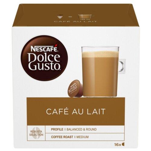 Кофе в капсулах Nescafe Dolce Gusto Cafe Au Lait (16 капс.), без кофеина кофе в капсулах nescafe dolce gusto mexico americano 12 капс