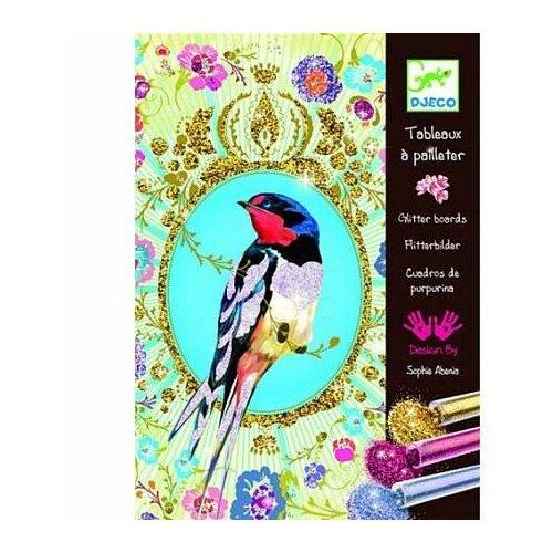 Купить DJECO Набор для творчества Блестящие птицы (09501), Поделки и аппликации
