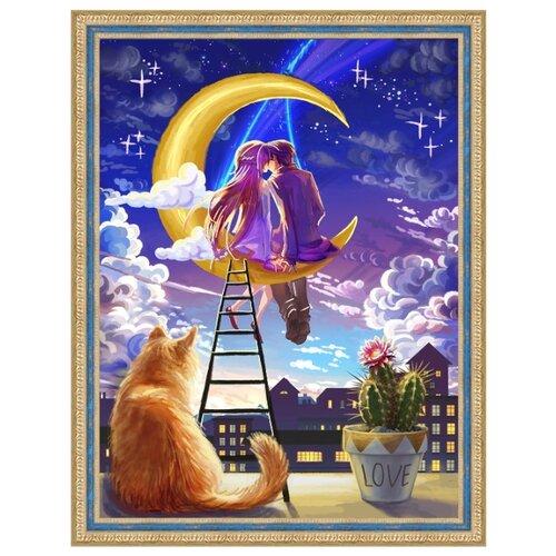 Купить Алмазная живопись Набор алмазной вышивки Первая любовь (АЖ-1718) 30x40 см, Алмазная вышивка