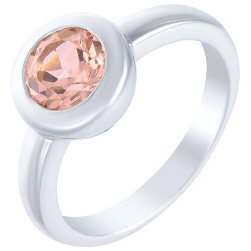 ELEMENT47 Кольцо из серебра 925 пробы с кубическим цирконием AR4658MGNNR_KO_001_WG, размер 17