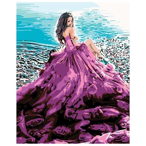Купить Картина по номерам Живопись по Номерам Сиреневое платье , 40x50 см, Живопись по номерам, Картины по номерам и контурам