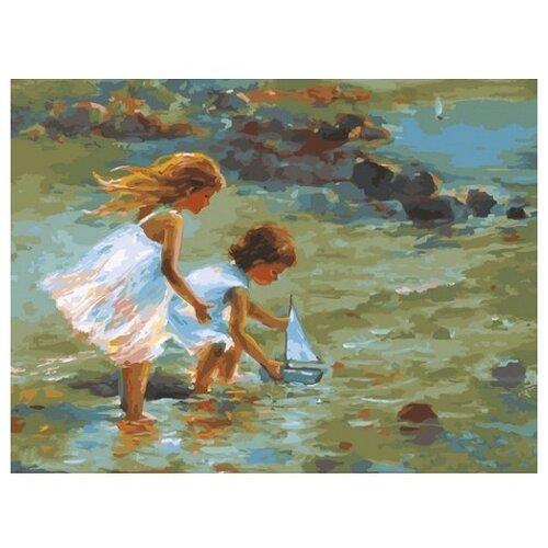 Купить Белоснежка Картина по номерам Кораблик 30х40 см (332-AS), Картины по номерам и контурам