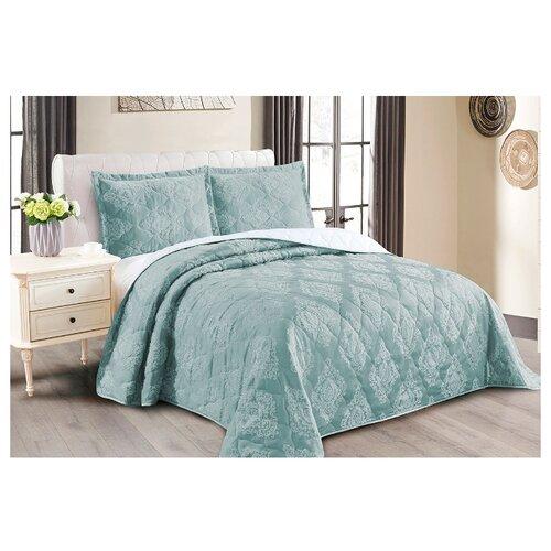 Комплект с покрывалом Cleo Versailles 240х260 см, голубой комплект с покрывалом cleo versailles 240х260 см коричневый