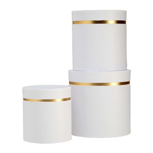 Набор подарочных коробок ESSA TOYS Тубус, 3 шт белый