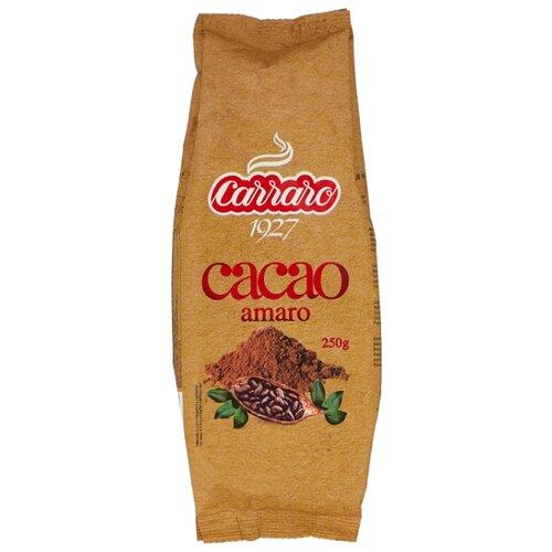 Carraro Cacao Amaro Какао растворимый без сахара, пакет, 250 г