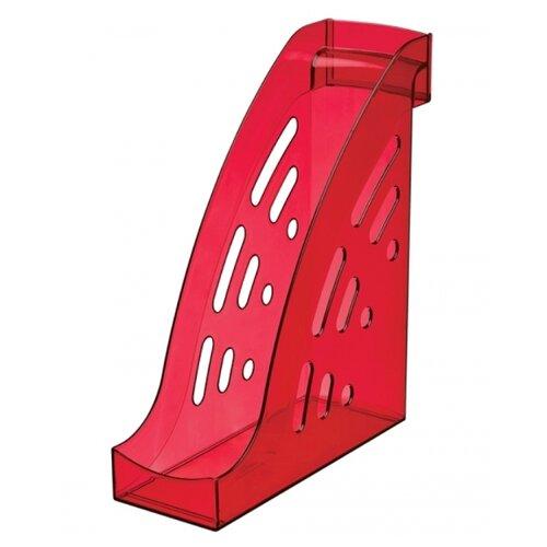 Лоток вертикальный для бумаги СТАММ Торнадо темно-красный вишня лоток вертикальный для бумаги стамм фаворит тонированный темно красный вишня