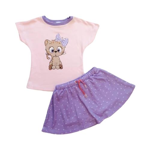 Комплект одежды Mivilini размер 80, розовый