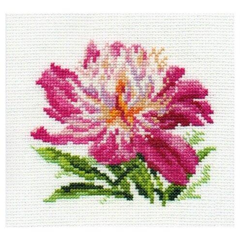 Купить 0-119 Набор для вышивания АЛИСА 'Розовый пион' 10*11см, Алиса, Наборы для вышивания