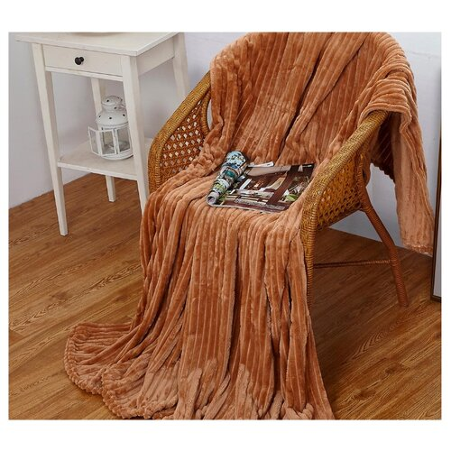 Плед Cleo Orrizonte 200x220 см, светло-коричневый пижама cleo cleo mp002xw13o9e