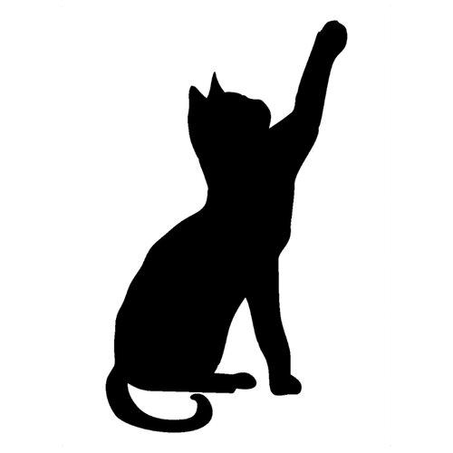 Наклейка Melcom Кошка, меловая наклейка