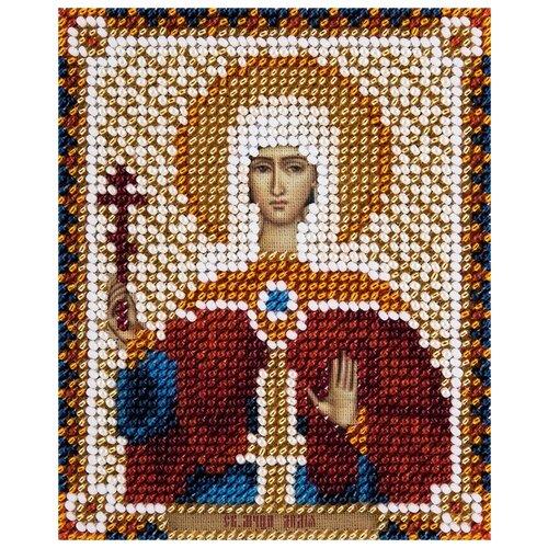 Купить PANNA Набор для вышивания бисером Икона Святой мученицы Лидии Иллирийской 8.5 х 11 см (CM-1782), Наборы для вышивания