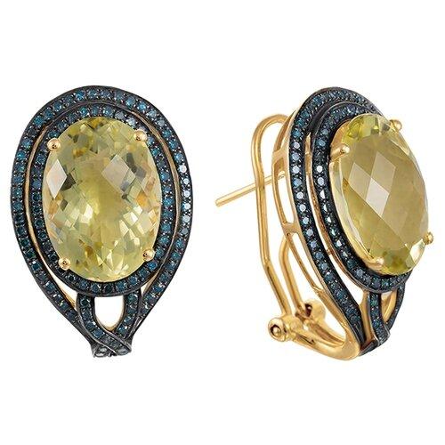 JV Серьги из золота с бриллиантами WE00948P-7-DL-LQ-YG