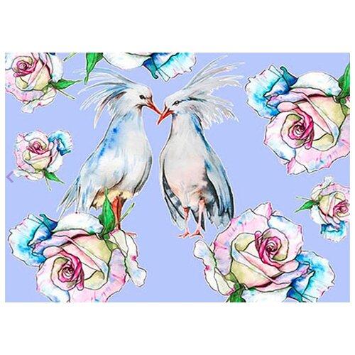 Фото - Картина по номерам Влюбленные птицы, 30х40 см цветной картина по номерам белый тигр 30х40 см me1072