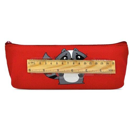 Купить Феникс+ Пенал Енотик с линейкой (48473) красный, Пеналы
