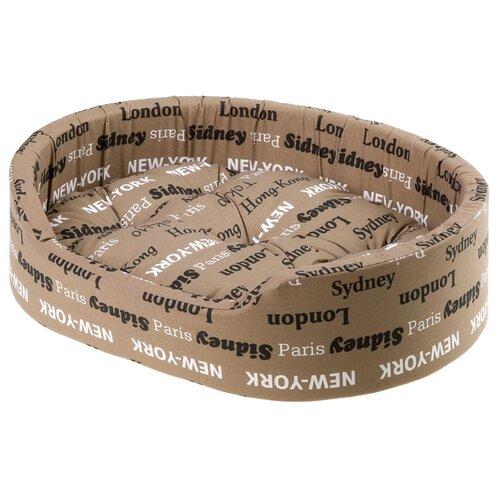 Лежак для собак и кошек Ferplast Dandy C 55 55х41х26 см коричневый