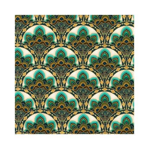 Ткани фасованные PEPPY (P - W) для пэчворка TERRACINA ФАСОВКА 50 x 55 см 146±5 г/кв.м 100% хлопок AQSM-17683-213 TEAL, Robert Kaufman  - купить со скидкой