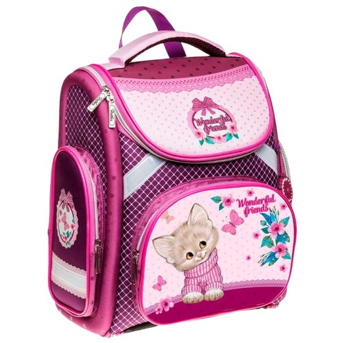 Hatber ранец Compact plus Нежное создание NRk_14044 розовыйРюкзаки, ранцы<br>
