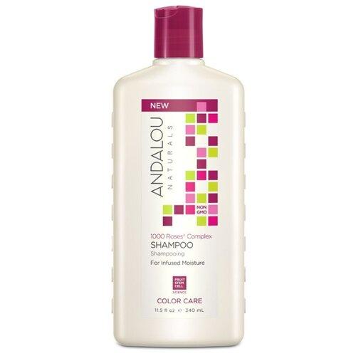 Andalou Naturals шампунь 1000 Roses Complex Color Care для сухих, поврежденных и окрашенных волос, 340 мл недорого