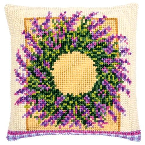 Купить Набор для вышивания подушки Венок из лаванды VERVACO PN-0173731, Наборы для вышивания