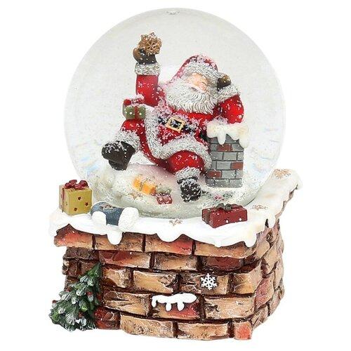 Снежный шар Sigro Санта на трубе (50-1381) коричневый по цене 6 426