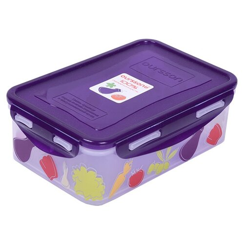 Фото - Oursson Контейнер CP1103S/CP1103-1S фиолетовый/овощи oursson контейнер cp1103s cp1103 1s оранжевый прозрачный