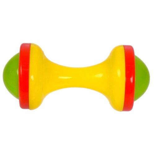 Купить Погремушка Крошка Я Гантелька 2656021 желтый / зеленый / красный, Погремушки и прорезыватели