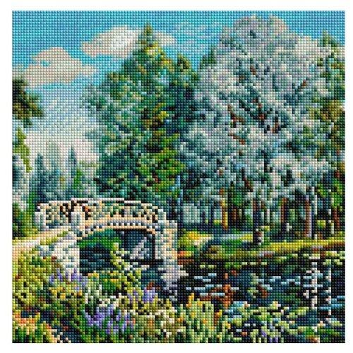 Мозаичная картина Мостик в парке