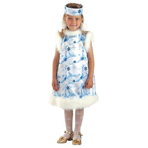 Купить Костюм Батик Снежинка (222), белый/голубой, размер 128, Карнавальные костюмы
