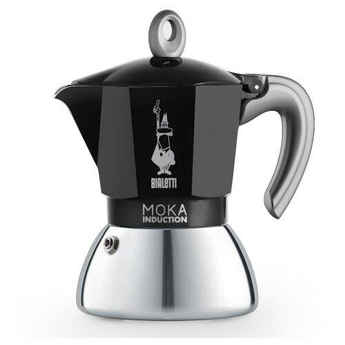 Гейзерная кофеварка Bialetti Moka Induction (4 чашки), черный
