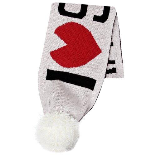 Шарф Sonia Rykiel размер 128 белый/красный/черный платье oodji ultra цвет красный белый 14001071 13 46148 4512s размер xs 42 170