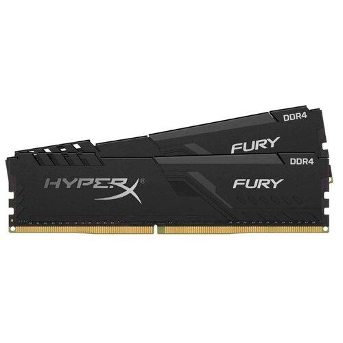 Купить Оперативная память HyperX Fury DDR4 2400 (PC 19200) DIMM 288 pin, 8 ГБ 2 шт. 1.2 В, CL 15, HX424C15FB3K2/16