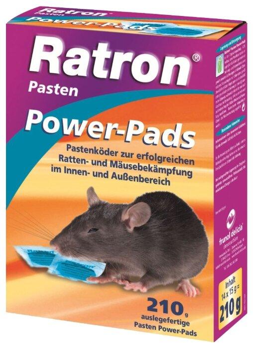 Средство Ratron Power-Pads пастообразное порционное от крыс и мышей 210 г
