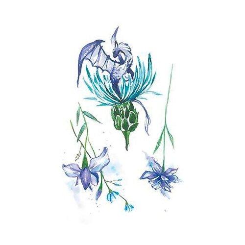 Polysfera Tattoo Авторская татуировка Tattoo PS&KG 0017 голубой/зеленый/фиолетовый