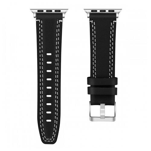 Сменный ремешок Nuobi Leather для Apple Watch, Черный 38/40 mm сменный ремешок nuobi для apple watch 38 40mm черный