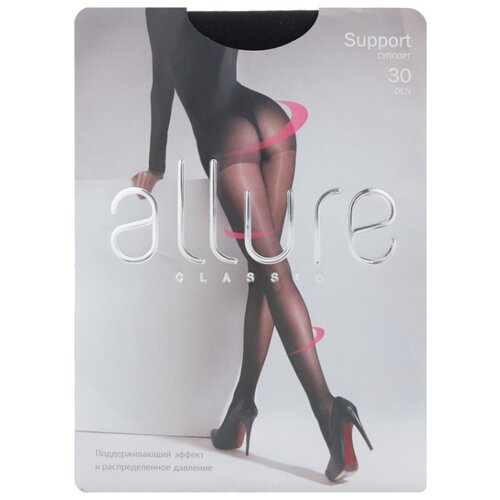Колготки ALLURE Classic Support, 30 den, размер 3, nero (черный)